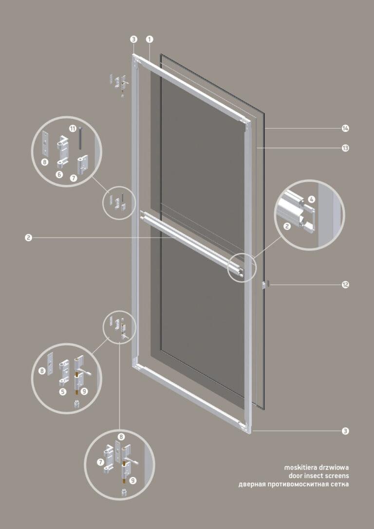 Door insect screens