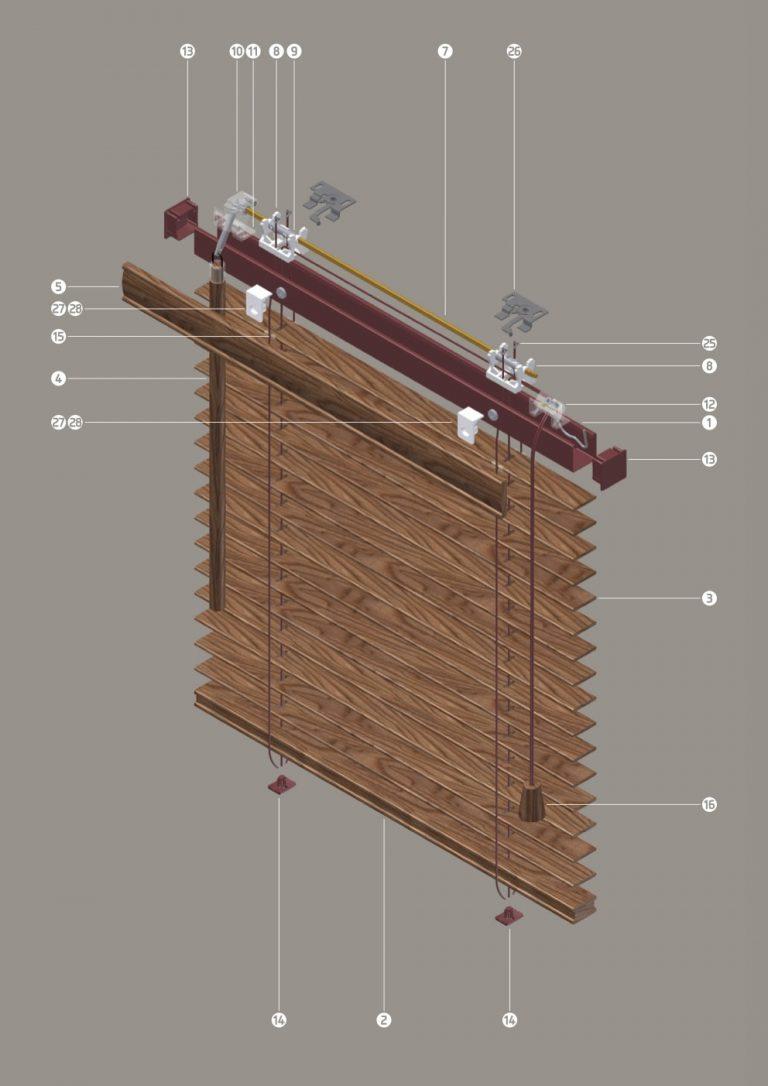 V13 Drewno 25 mm