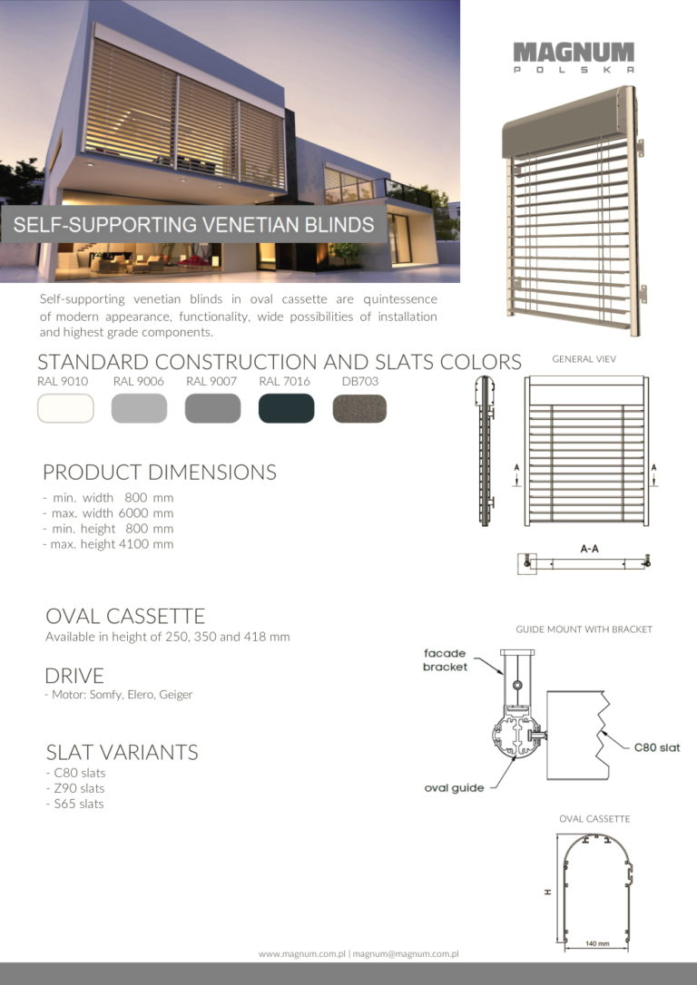 Self-supporting Venetian Blinds