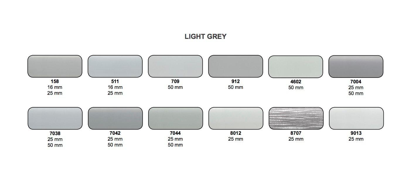 Kolorystyka taśm aluminiowych Magnum