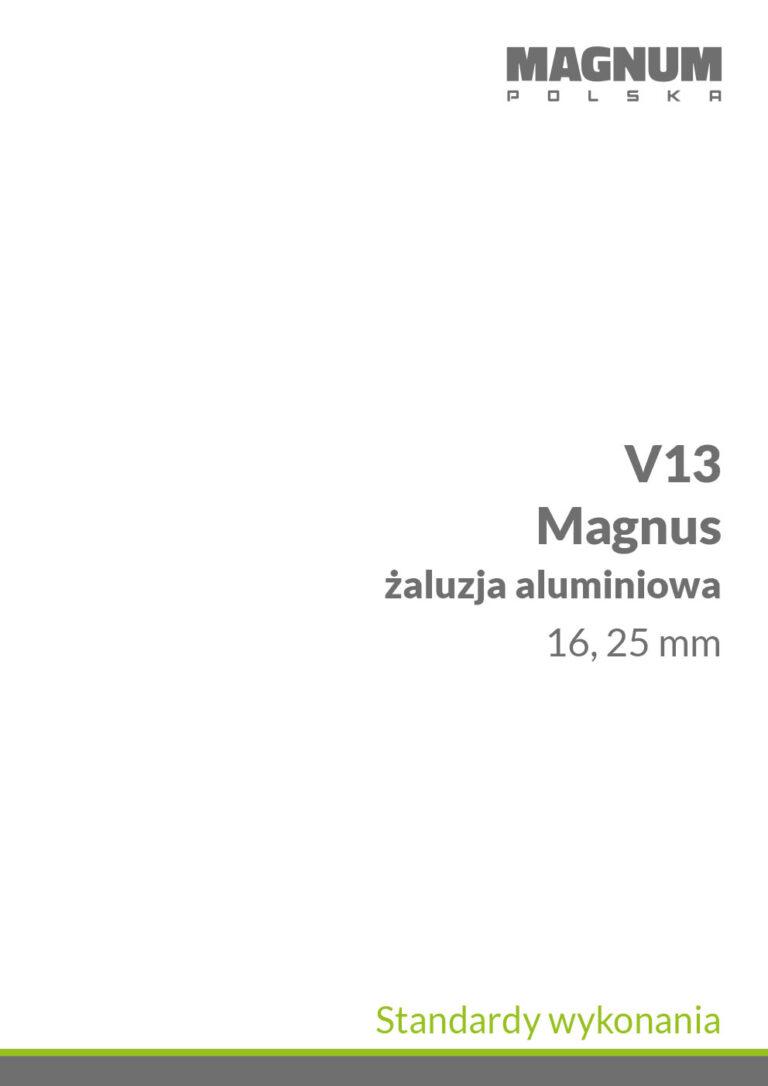 V13 magnus standardy wykonania
