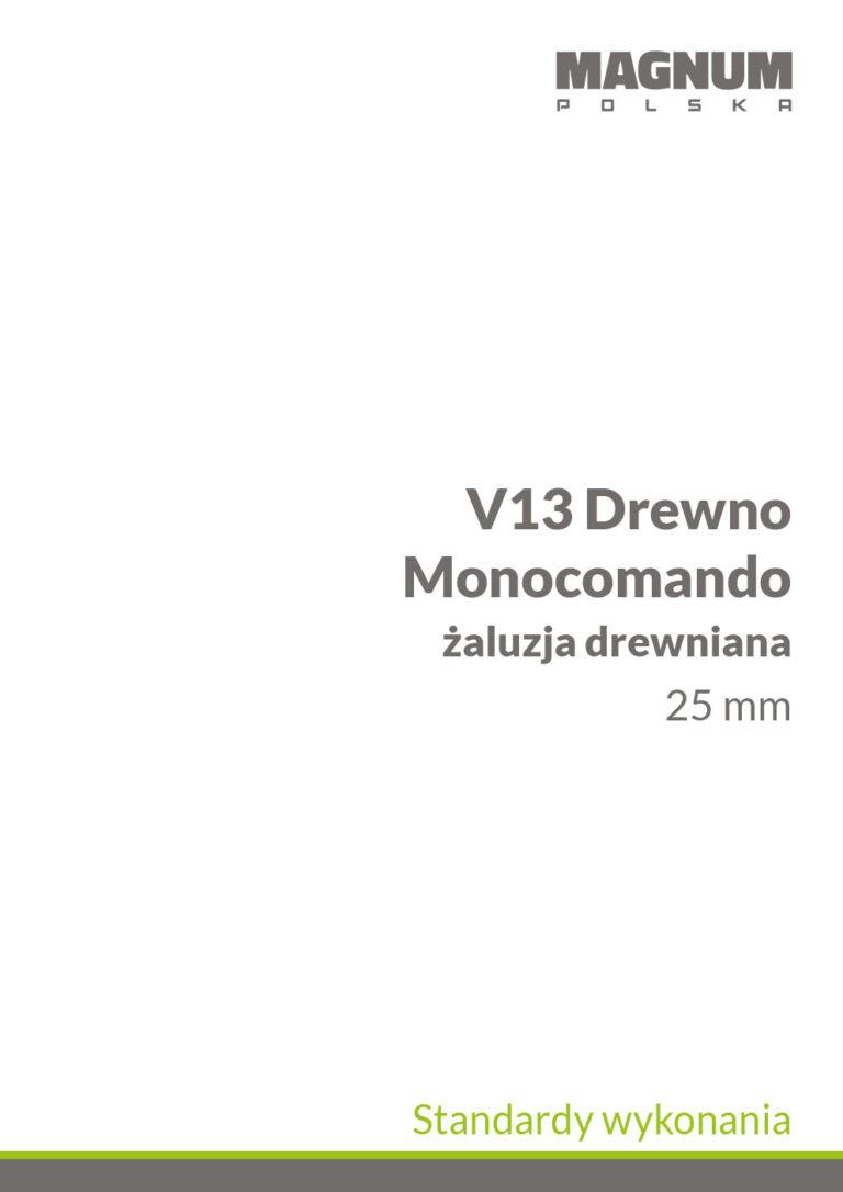 V13 Monocomando Drewno Standardy Wykonania
