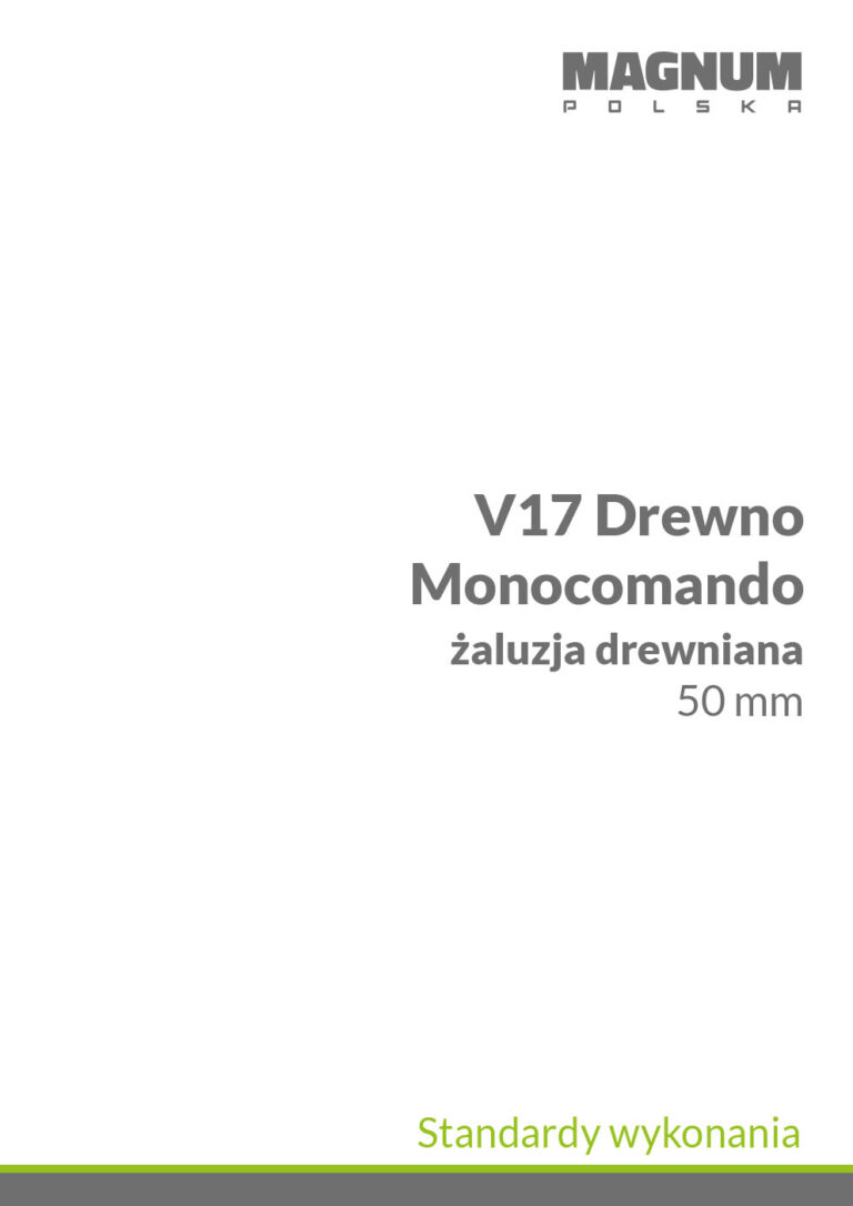 Standardy V17 monocomando drewno
