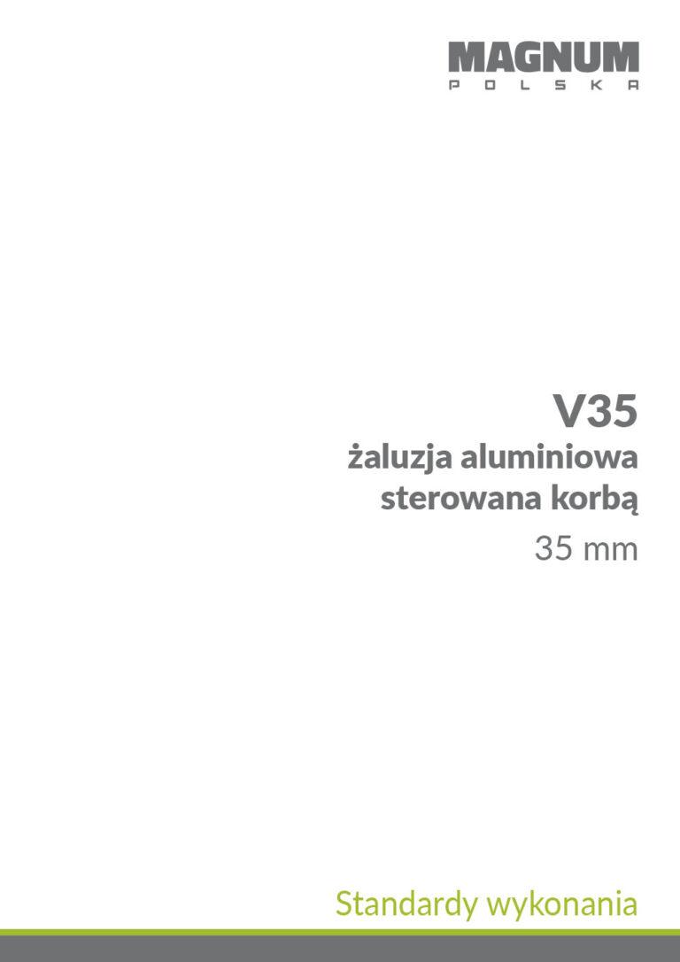 V35 Sterowanie Korbą Standardy Wykonania